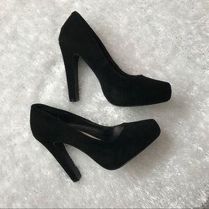 Beautiful black suede pumps